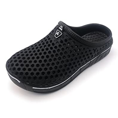66b0cba9638edd Amoji Garden Clogs Shoes Sandals House Slippers Home Room Shoes Indoor  Outdoor Shower Shoe Sport Kids