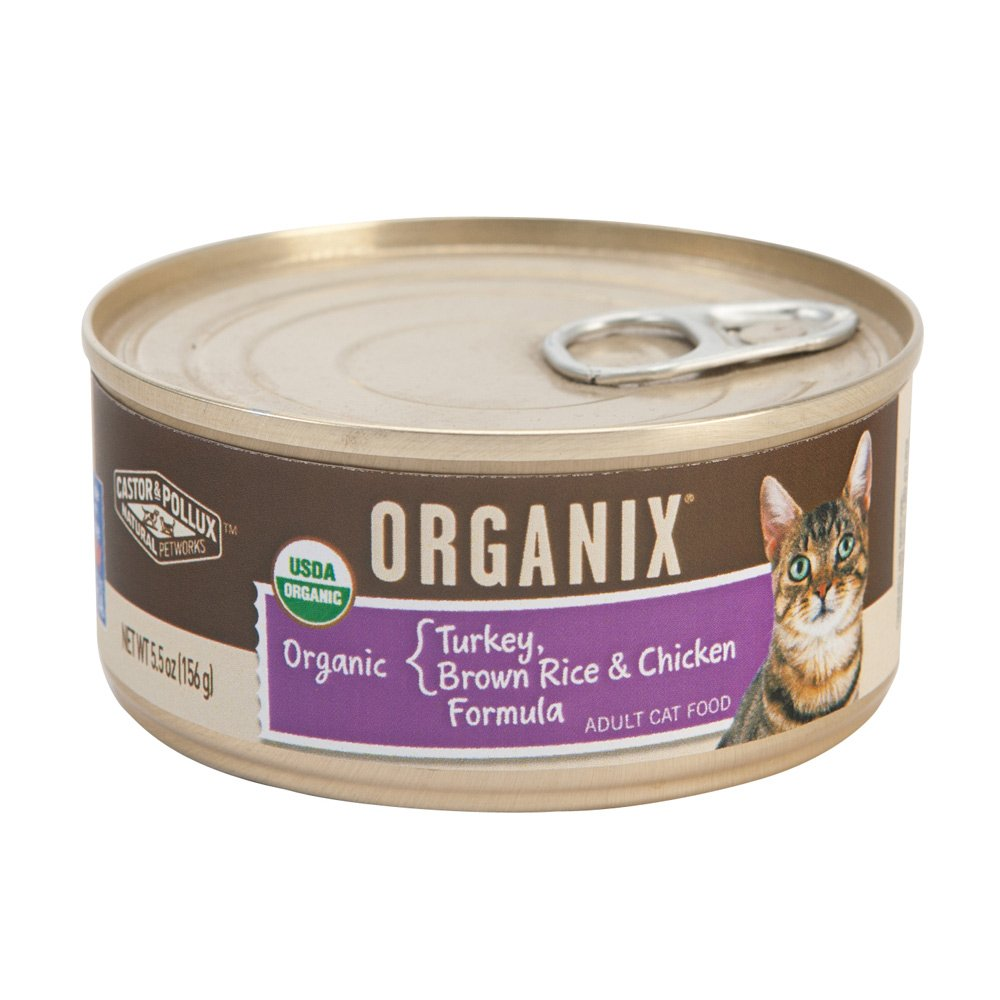 durable modeling Castor and Pollux Organix Turkey Brown Rice And Chicken Formula Canned Cat Food 5.5 oz x 18 cans