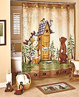 Perfect Nature Calls Shower Curtain Idea Outhouse Shower Curtain