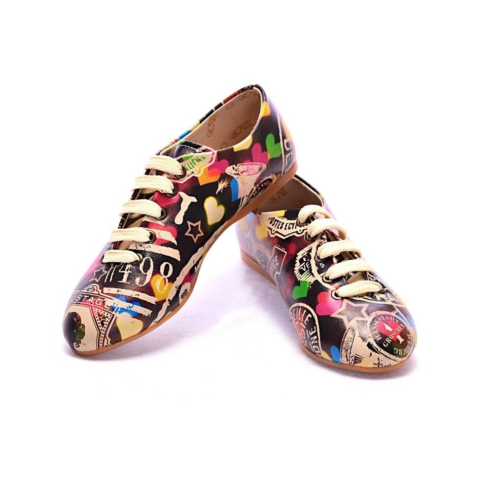 Goby Slv22 - Oxford Mujer 41 EU|Printed - Colourful