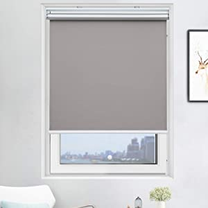 Cordless Roller Shades Light Blocking UV Protection Window Shades for Home, Hotel, Club,Grey 23x72