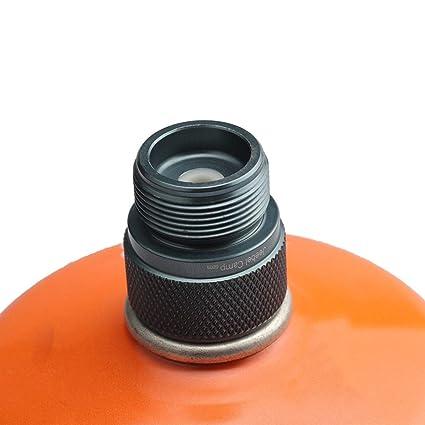 DoMoment Adaptador de la antorcha de Gas Bote de la válvula Lindal al Tanque de propano Verde 1L o Adaptador de Quemador de Estufa de Camping al Aire Libre ...
