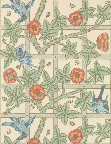 Birds, William Morris.  Ruled journal: 150 lined / ruled pages, 8,5x11 inch (21.59 x 27.94 cm) Soft cover / paperback