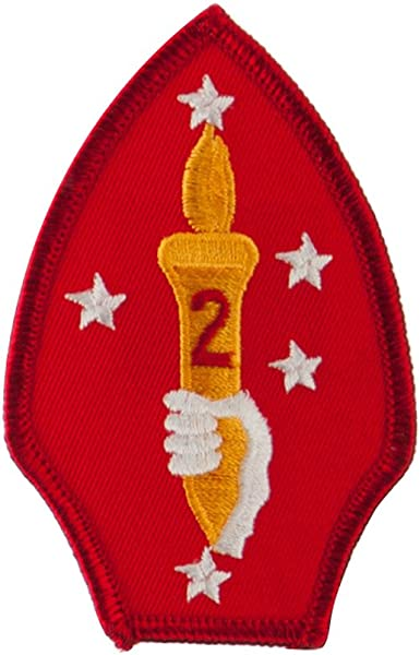 """Embroidered Military Patch 3/""""  2ND MC DIV"""