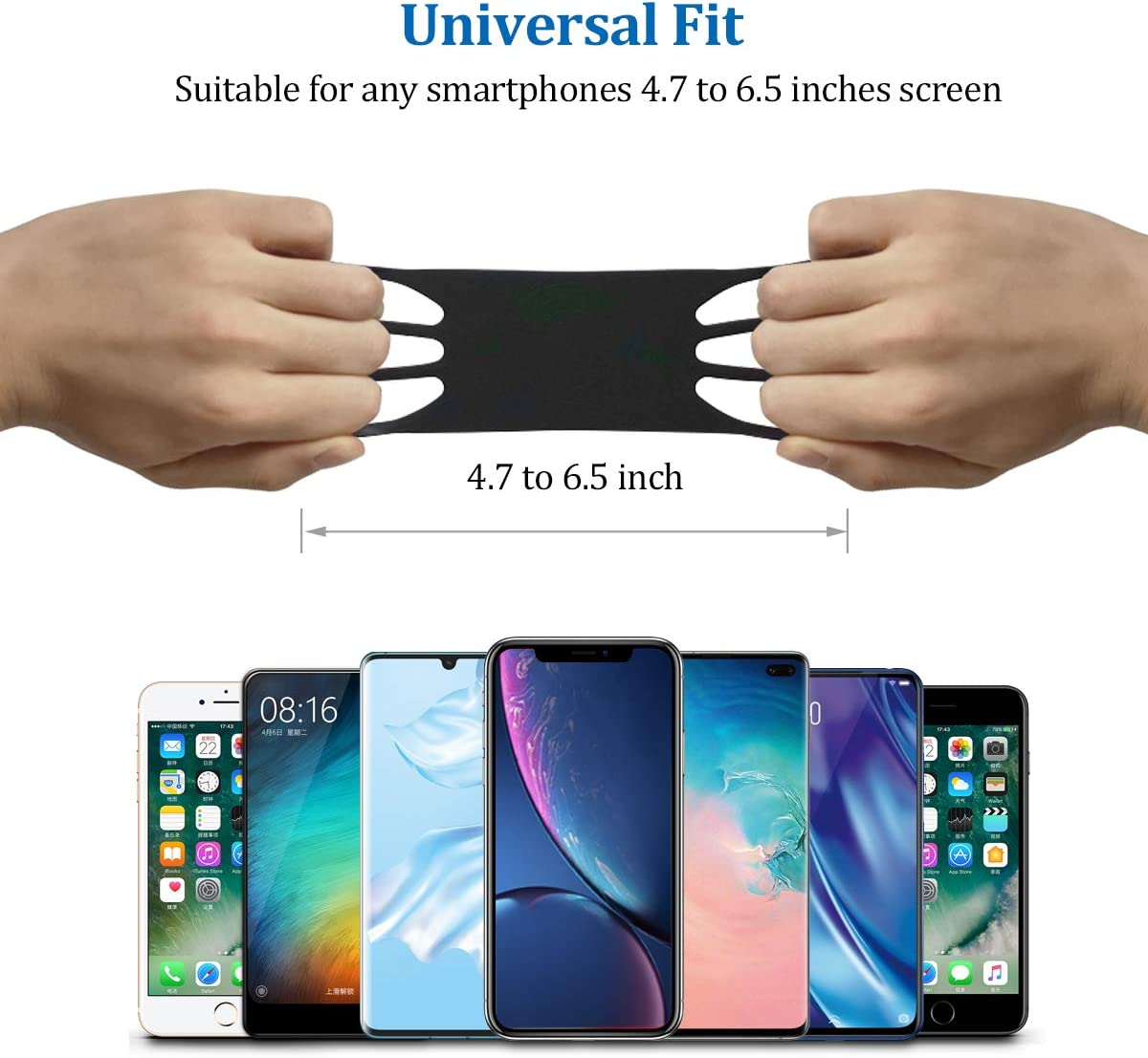 Quick Mount Running Phone Armband Wrist Band Cell Phone Holder Sport Arm Band Universal Fit for iPhone 11 Pro Max//XS//XR//8 Plus//8//7//6s Galaxy S20 S10 //S20//S10///& /& Other 4.0-6.5 Holder Phone Armband