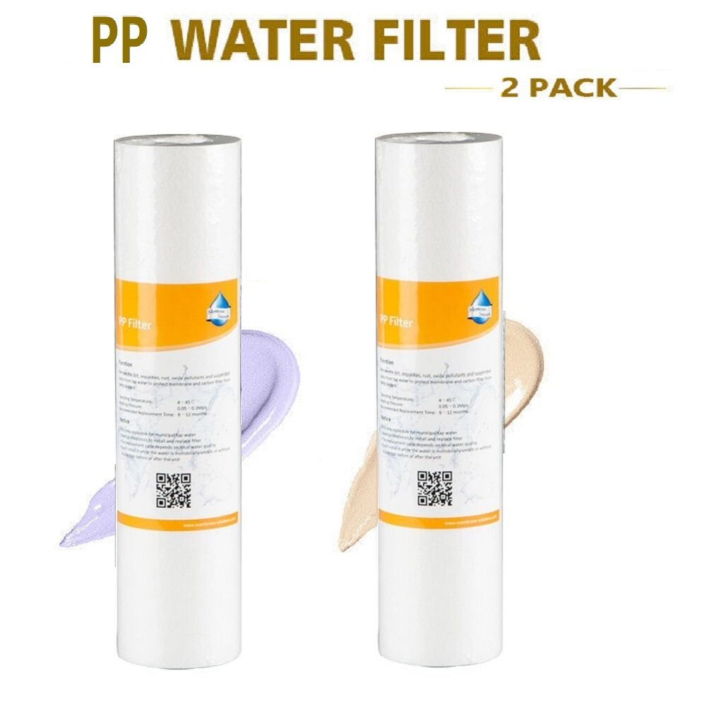 Stage-1 PP Hot Inline 5 Micron Sediment Drinking Water Filter Replacement,Set of 2 Alberts Filter