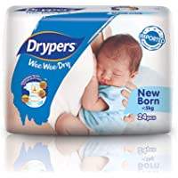 Drypers Wee Wee Dry New Born Diapers, 24 count