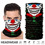 TEFITI Face Shield, Multifunctional Motorcycle Face Mask Balaclava Bandana Headband for All Outdoor Sports (AC-2017142)