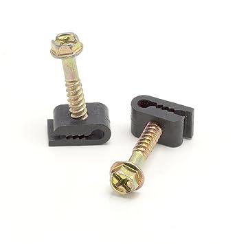 Amazon.com: Mini Wire Cable Clips, Electrical Wire Cable Clip, 1/10 ...