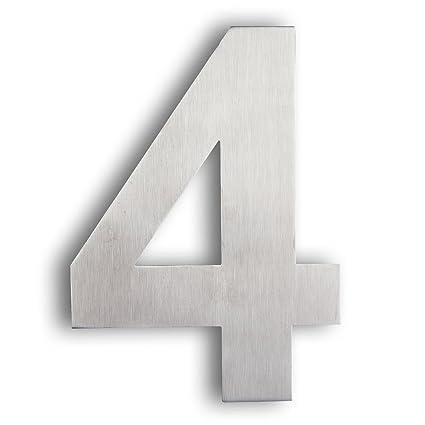 Mellewell House Address Numbers StandOff Door Metal Sign Digits - 10 inch metal house numbers