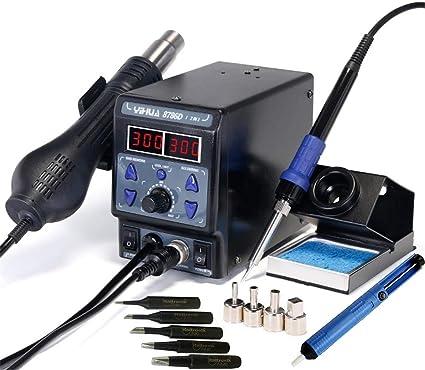 450//°C 120/l//min Compact yihua 858/Station /à air chaud Station de Soudage SMD 650/W 100