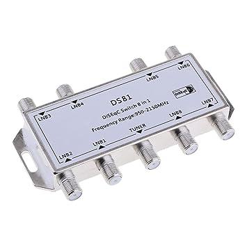 Homyl 1 pc de Switch con 8 salida Multi DS81 Video Cable Coaxial Señal SAT de