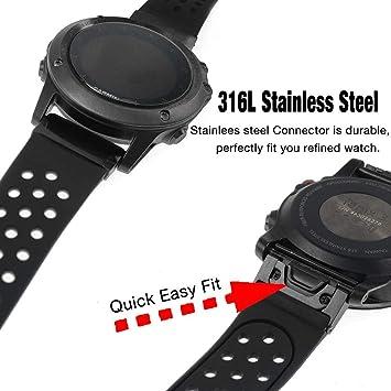 Tragbare Geräte Cleveres Zubehör Band Breite 26mm Weiche Silikon Ersatz Uhr Band Strap Für Garmin Fenix 5x/fenix 3/fenix 3 Hr Smart Uhr Armbänder