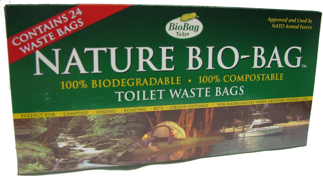 Camping Composting Toilet : Biobag toilet waste compostable bags count boxes pack of