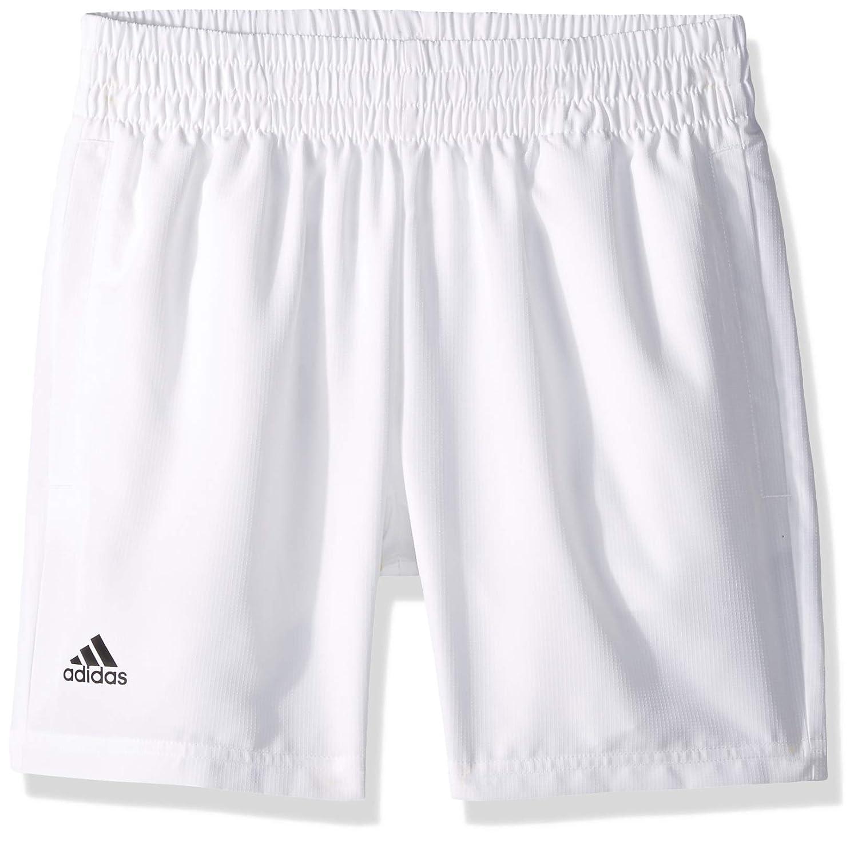 アディダス クラブ テニス ショート、ホワイト/ブラック、XL   B07F36YLD3