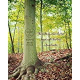 Roots of Love Carved Tree Personalized Wall Art