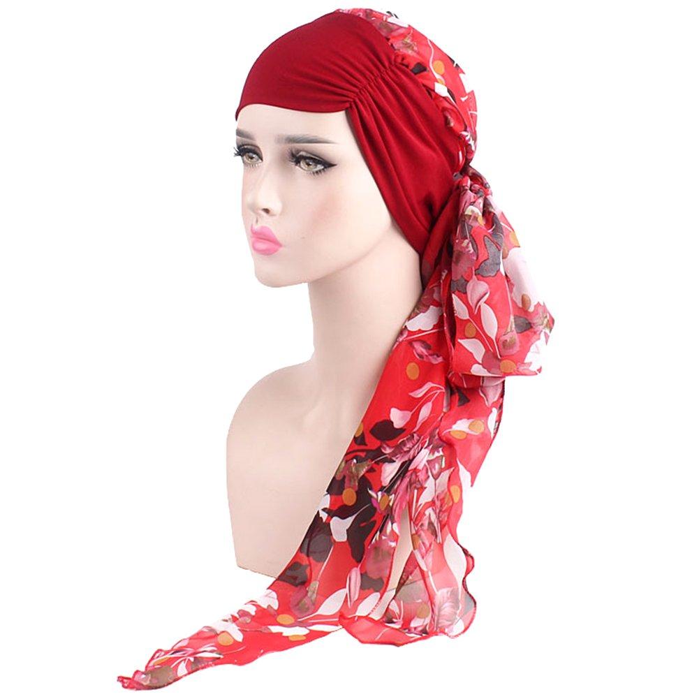 Amorar Fashion Chiffon Chemical Silenziatore Hat Turban Turban Scarf Pre-Eagglomerated Hair Loss Hat Elastico Copricapo Cancro Cappello Quadrato Amorar-06