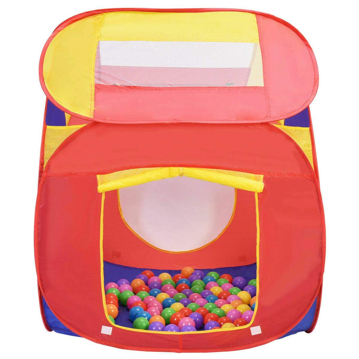 VeenShop カラフルボール ポータブル 子供 赤ちゃん遊び 家 インドア アウトドア おもちゃ テント ゲーム 100ボール B07Q75BZMR