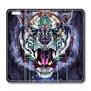 iCustomonline Leather Case for iPhone 6, Tiger Ultimate Protection Leather Case for iPhone 6