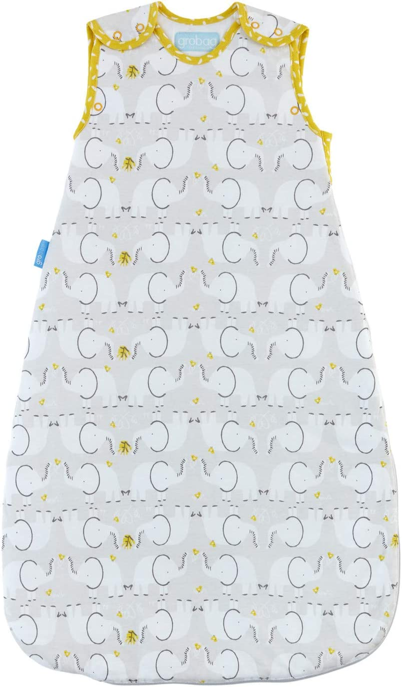 1.0 Tog The Gro Company Elephant Love Grobag Baby Sleeping Bag Wash and Wear Twin Pack 0-6 Months
