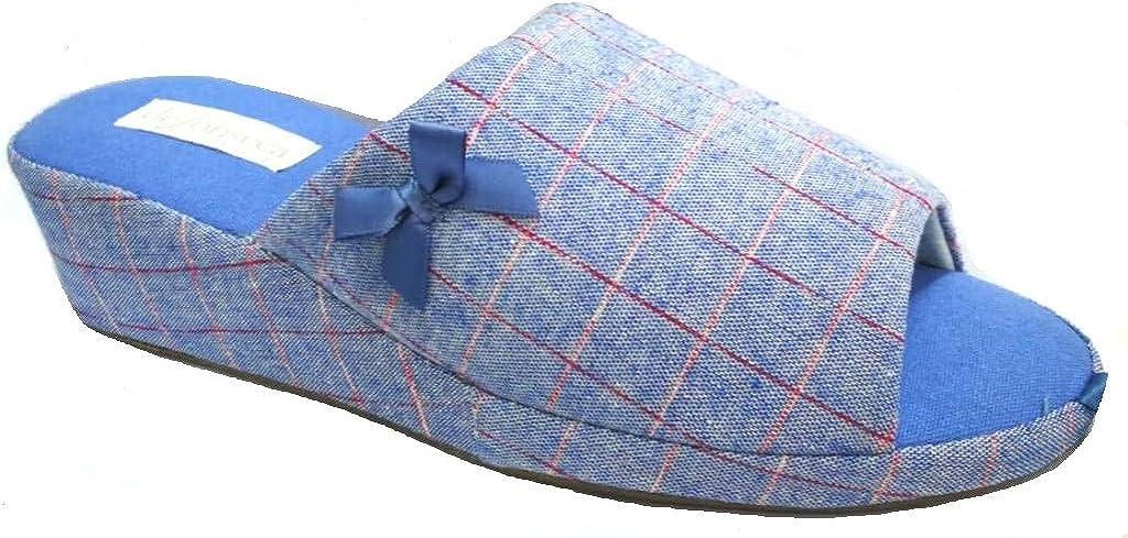 Palermo E W623 Azzurro de fonseca Ciabatte Pantofole Aperte in Cotone Donna MOD