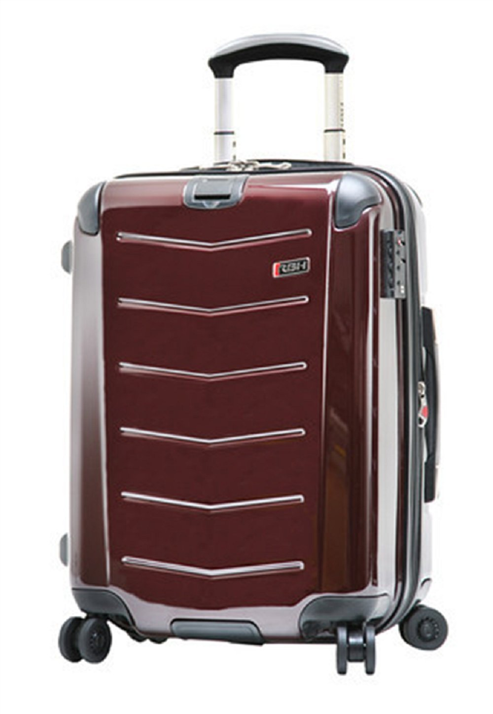 Ricardo Beverly Hills Luggage Rodeo Drive 21-Inch 4-Wheel Expandable Wheelaboard, Black Cherry, One Size
