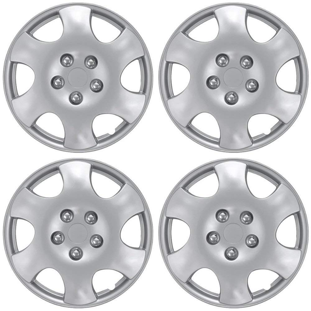 Pack of 4 Chrome OxGord Hubcaps for 15 Inch Wheels Wheel Covers