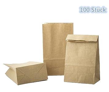 voyago 100 x fuerza papie bolsas papel kraft bolsa, pequeñas ...
