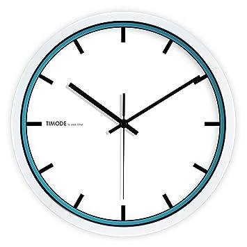 CC Timode Super Silencioso Muro relojes marcando no barrido tranquila relojes decorativos para el Salón Dormitorio Comedor Office, Blanco y Negro, ...