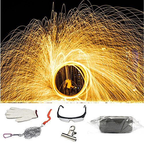 Wool Drop - ZRUI Steel Wool Fireworks Photography Backdrop Background for Light Painting Graffiti Long-Exposure Set on TIK Tok (1pcs Steel Wool Set)