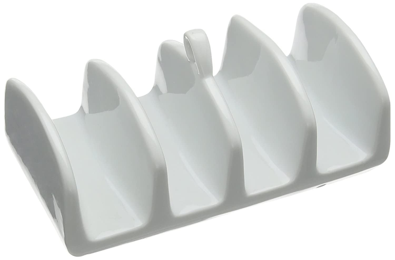 Price and Kensington Simplicity Toast and Crumpet Rack, Porcelain, White, 0059.423