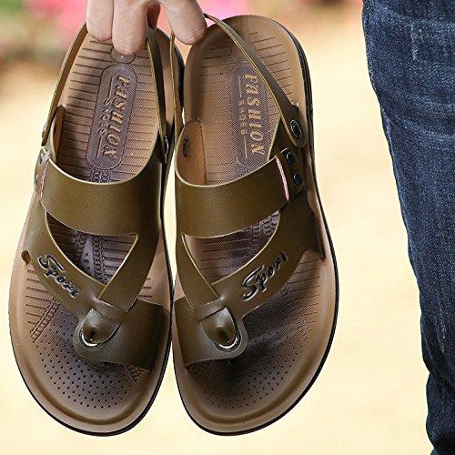 kaki44385 sandales tongs Zhangjia L'été loisirsetconfort chaussuresdeplage versioncoréenne lespiedsdeshommes x67xz0qSw