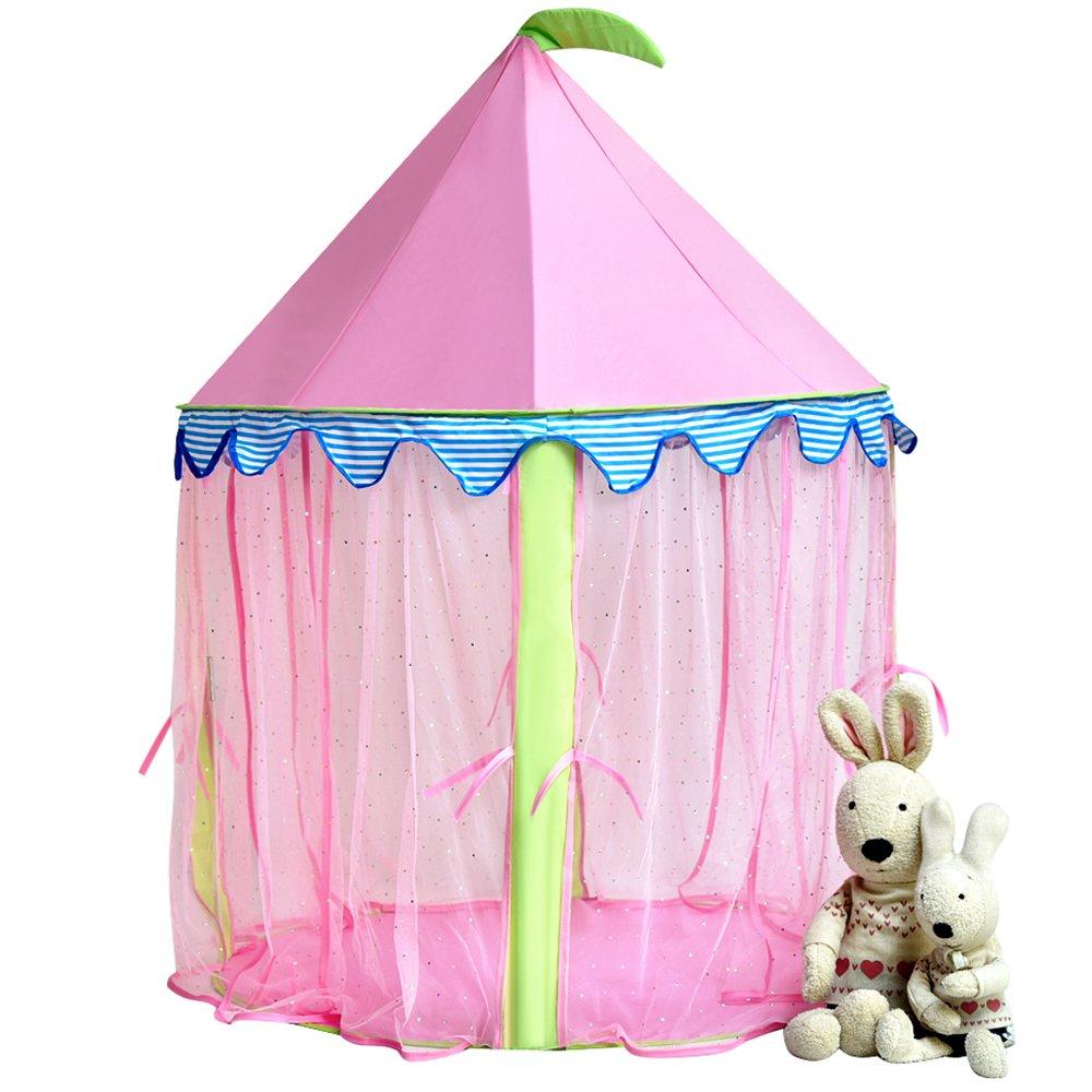 tente enfant int/érieur Tente de ch/âteau de princesse de fille playhouse rose de Sonyabecca pour les filles sautent la pi/èce de lecture de tente