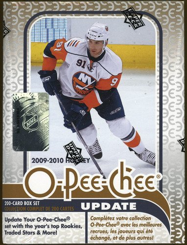 2009 / 2010 O-Pee-Chee Hockey Update Series Complete Mint 200 Card Factory Sealed Set. Loaded with Rookie Cards Including John Tavares, Matt Duchene, James Van Riemsdyk, Tyler Myers, Jonas Gustavsson, Michael Del Zotto and Many Others!