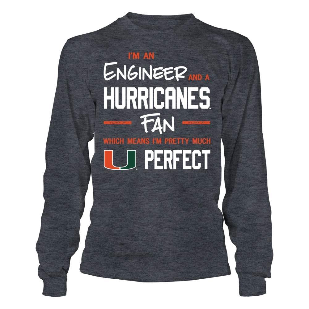FanPrint Miami Hurricanes T-Shirt Perfect EngineerFan T-Shirt Tank