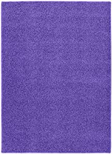 Garland Rug Shazaam Area Rug, 5-Feet by 8-Feet, Purple Vogue