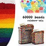 ZHENDUO Water Beads 60,000 Pcs, Water Gel Beads Pearls for Vase Filler, Wedding Centerpiece, Home Decoration, Plants, Toys, Crystal Water Bullet Balls
