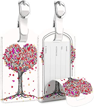 Love Hearts Cruise Luggage Tag For Suitcase Bag Accessories 2 Pack Luggage Tags