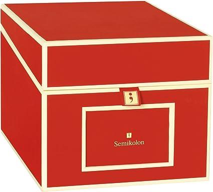 Caja para CD y Fotos, rojo +++ para ORGANIZAR y ARCHIVAR +++ calidad SEMIKOLON: Amazon.es: Hogar