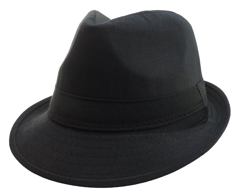 100% Polyester Soft Black Gangster Mobster Fedora