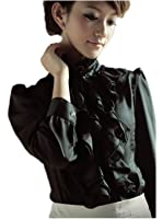 Brand Noble Luxury Victorian Tops Women Shirt Ruffle
