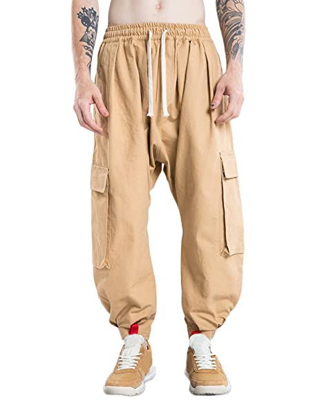 l'ultimo 90c4b 0d500 Idopy Pantaloni Casual Larghi da Uomo con Pantaloni Cargo ...