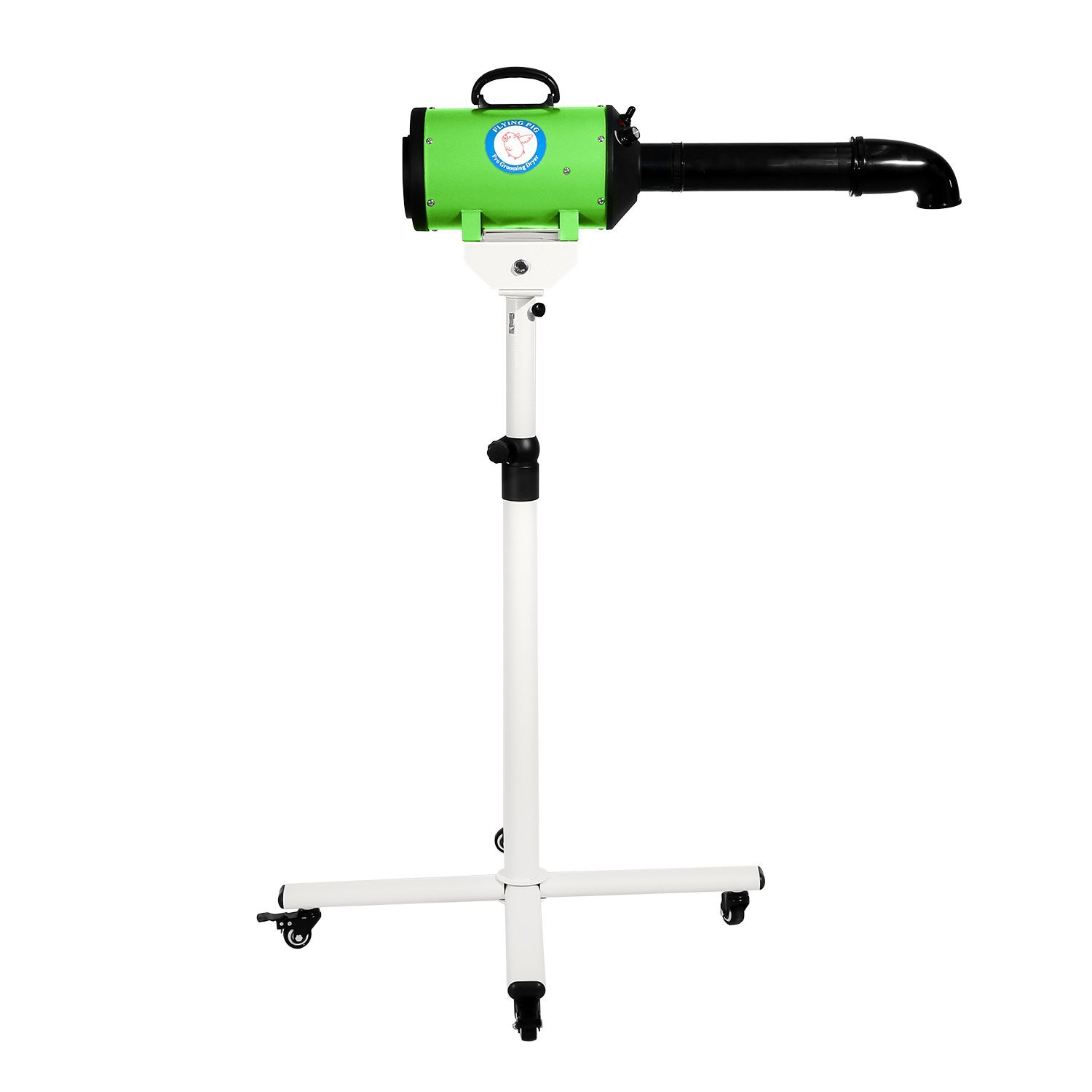 Flying Pig High Velocity Dog Pet Stand Grooming Dryer w/Variable Air Speed & Heat (Green) by Flying Pig Grooming
