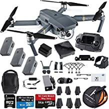 DJI Mavic Pro Fly More Combo Collapsible Quadcopter Drone Safety Bundle with Extra 2 Batteries, Landing Pad Kit and More Accessories
