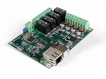 4 Tarjeta de Red Ethernet Relé Canal Incluye 4 Digital & 1 ...