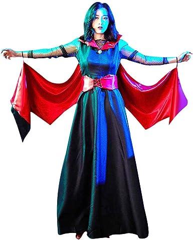 Darringls Vestidos para Mujer Halloween, Disfraz Vampira Halloween ...