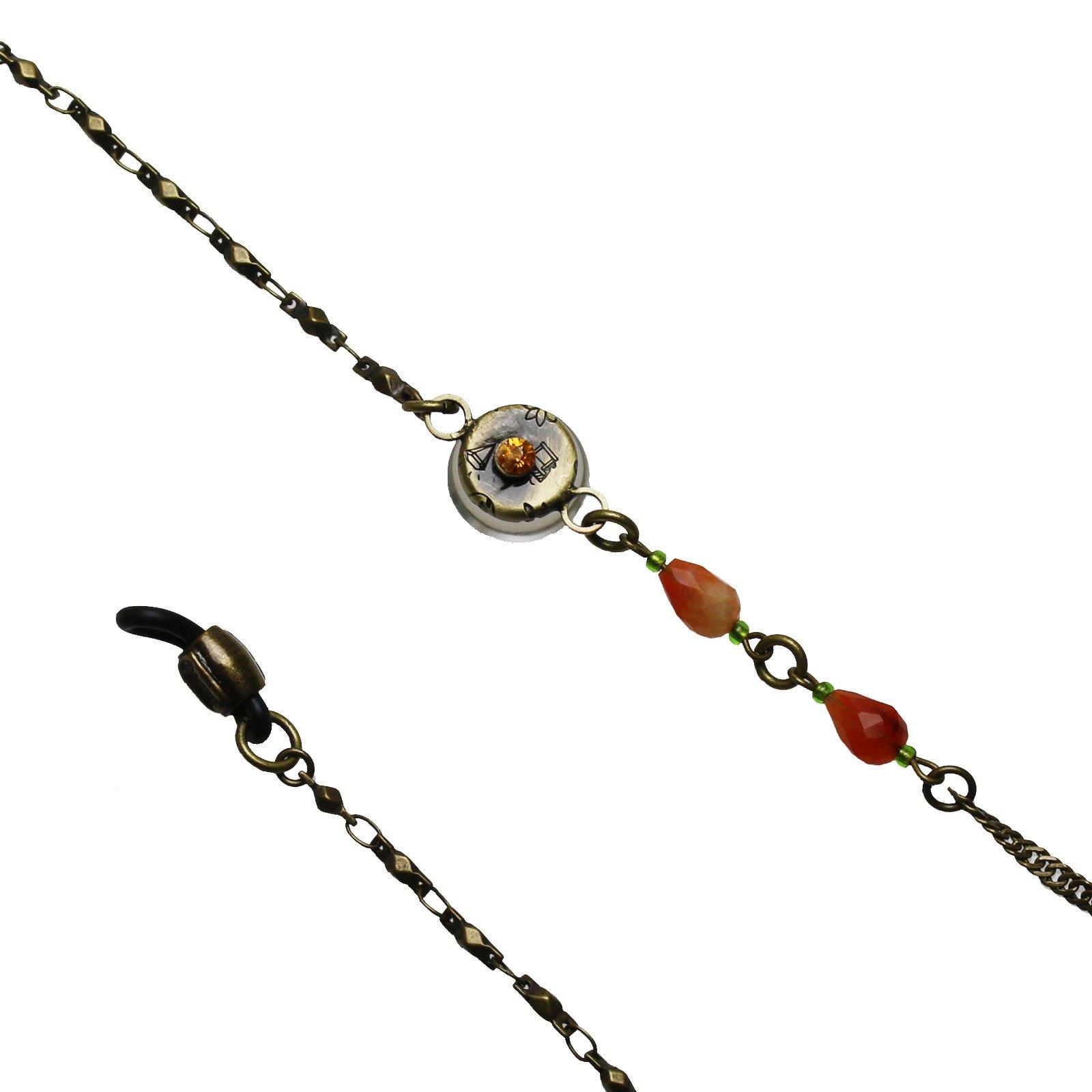 Tamarusan Glasses Chain Cicada Green Carnelian Glass Cord Handmade by TAMARUSAN (Image #3)