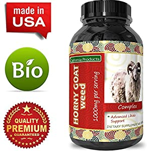 Horny Goat Weed Extract - Libido Supplement for Men & Women - Boosts Sex Drive & Increases Desire Naturally - Extra Strength Herbal Formula - With Maca Root & Tongkat Ali - By California Products