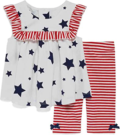 Red White and Blue 4th of July Patriotic Made in America Girl Baby Infant Onesie Outfit Romper