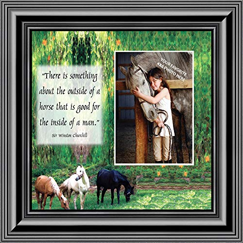A Horse Picture Frame, Personalized Picture Frame for Horse Lovers, 10X10 9708B